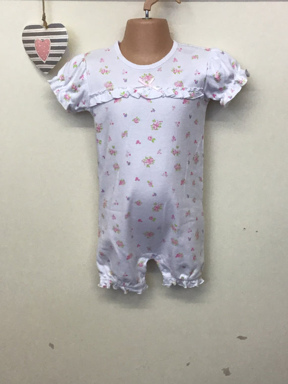 Baby Girls Ditsy Print Romper Suit (NB-9 months)