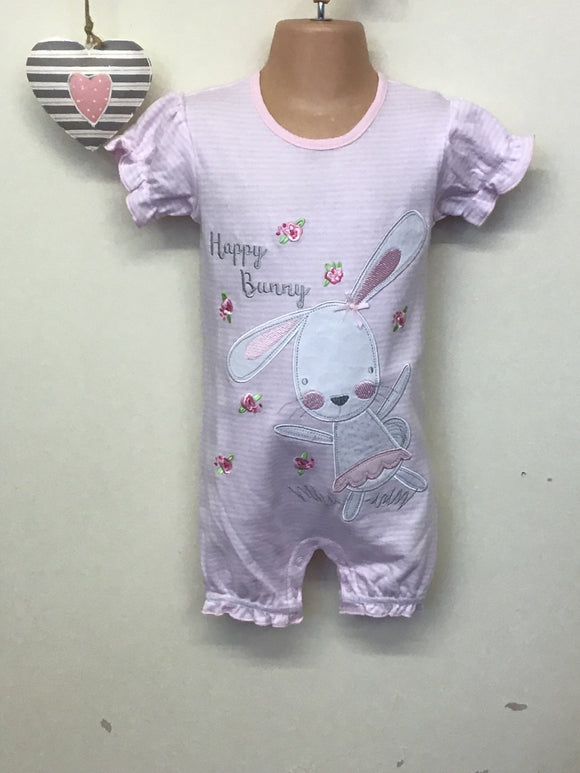 Baby Girls Happy Bunny Romper (1 month-9 months)