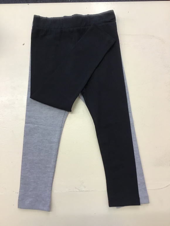 Pack of 2 Black/Grey Leggings (1-3 years)