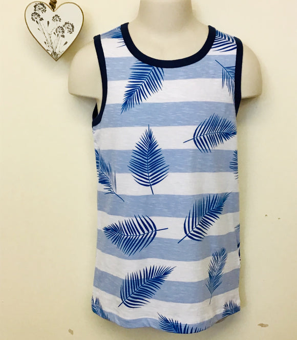 Boys Striped Summer Vest Top (3-8 years)