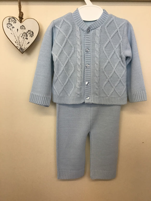 Baby boy knitted 3 piece set (0-9 months)