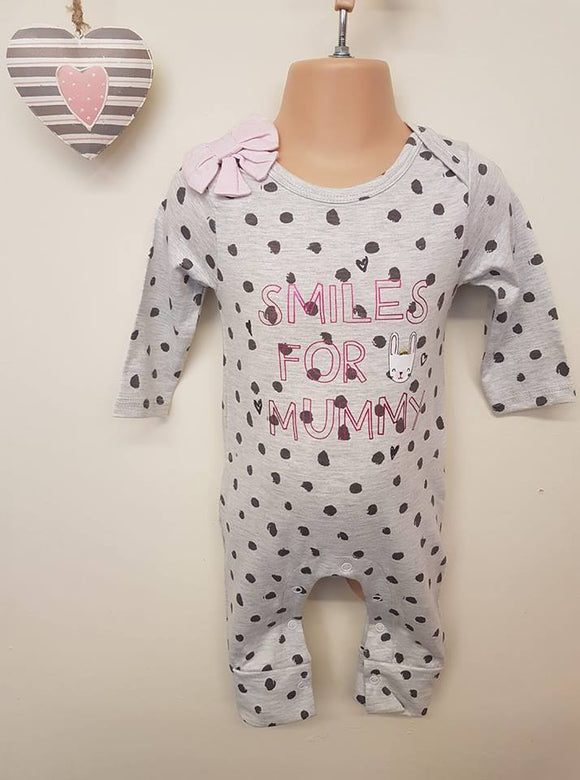 Baby Girls Spotty Romper Suit (0-12 months)