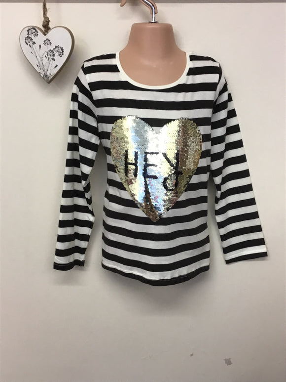 Girls long Sleeved Sequin Top (3-8 years)