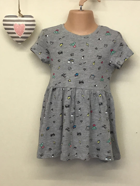 Girls Printed T Shirt Dress (18 months-3 years)