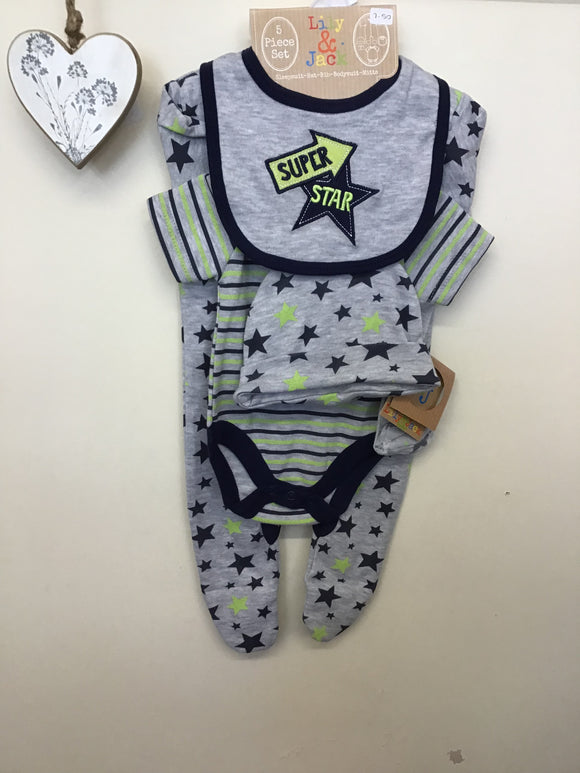 Lily & Jack 5 Piece Super Star Gift Set (NB-6 months)