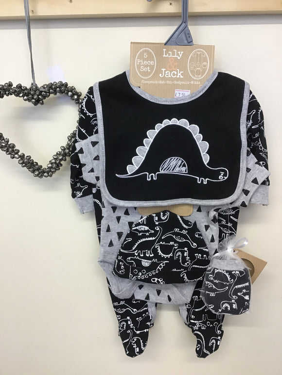 Lily & Jack Dinosaur 5 Piece Gift Set (NB-6 months)