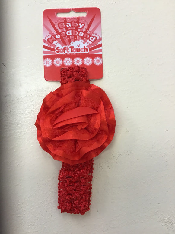 Baby Christmas Red Crochet Headband