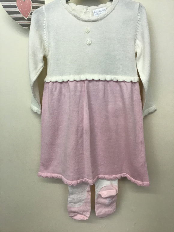 Baby Girl Fine Knitted Dress & Tights Set