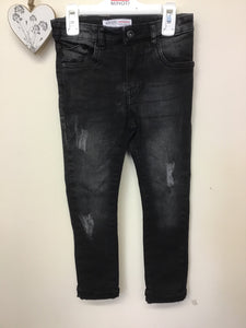 Boys Skinny Washed Black Jeans (3-8 Years)