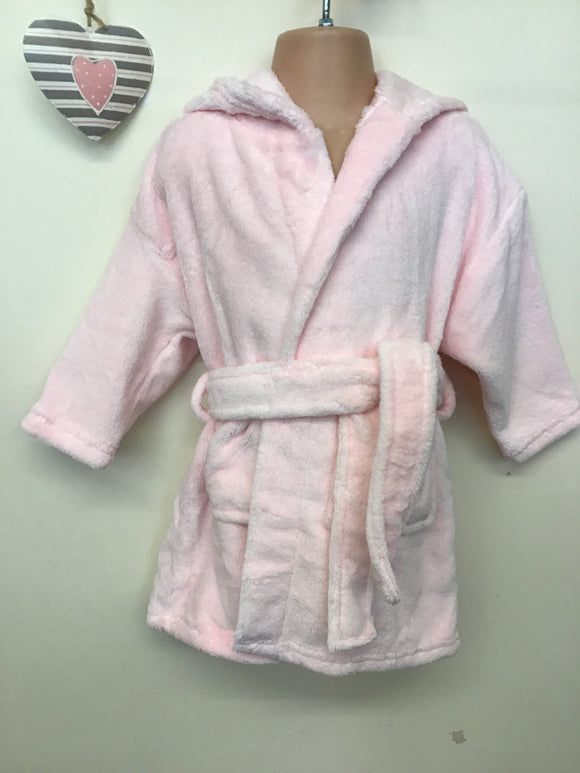 Girls Hooded Bath Robe (12 months-3 years)