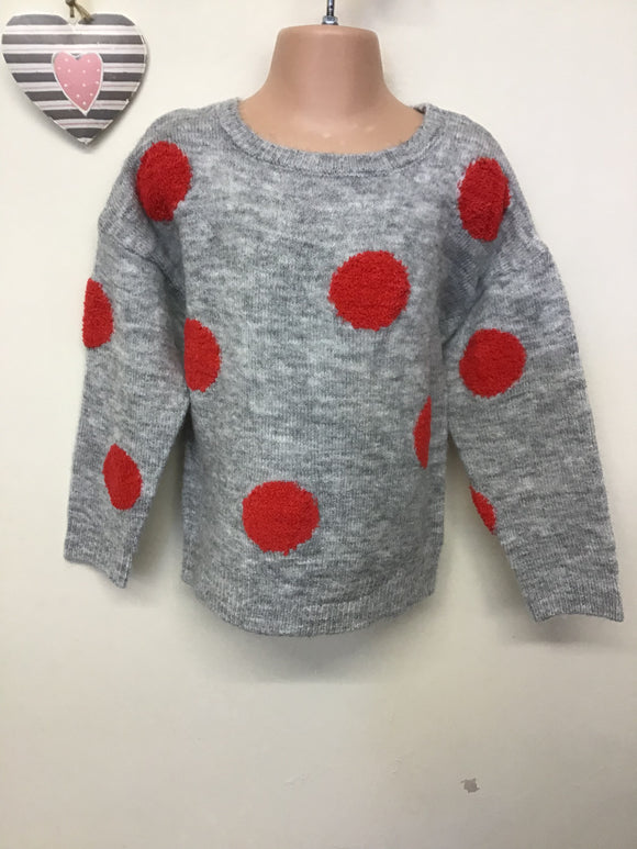 Girls Bobble Knit Marl Jumper (3-8 years)