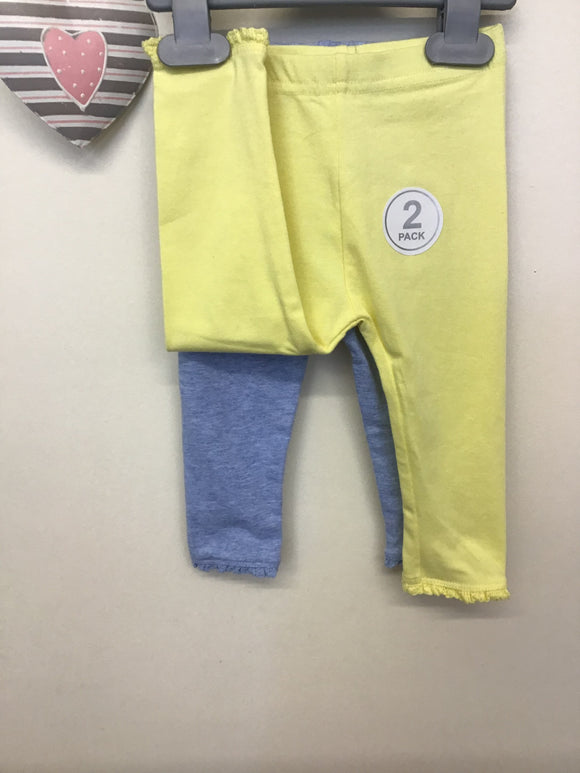 Baby Girls Pack of 2 Leggings (0-24 months)