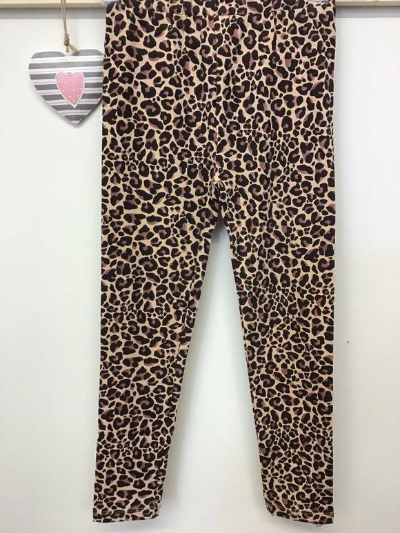 Girls Leopard Print Basic Leggings (3-8 years)