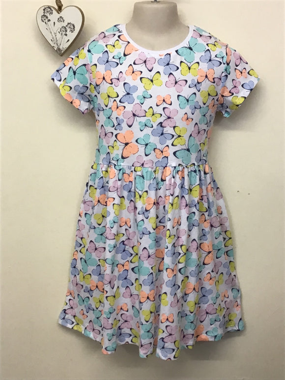 Girls Butterfly Print Dress (9-11 years)