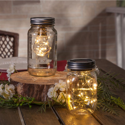 Mason Jar Lid - Solar Powered Light