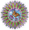 Stainless Steel Wind Spinner - Animated Monarch Butterfly