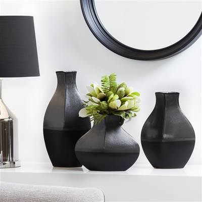 Aes Two Tone Grey/Black Vase