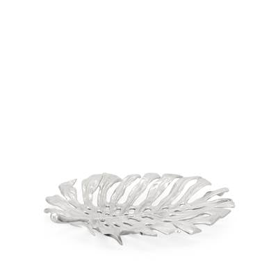 Lux Leaf Nickel Plated Wall Decor Platter