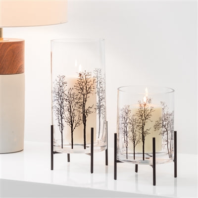 Aspen Tree Silhouette Candle Holder