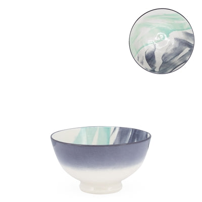 Kiri Porcelain Bowl - Watercolor Brush