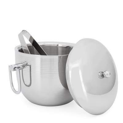 Double Wall Stainless Steel Ice Bucket with Tongs