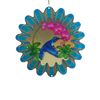 Stainless Steel Wind Spinner - Animated Blue Humming Bird