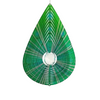 Stainless Steel Wind Spinner - Green Jewel Tear Drop