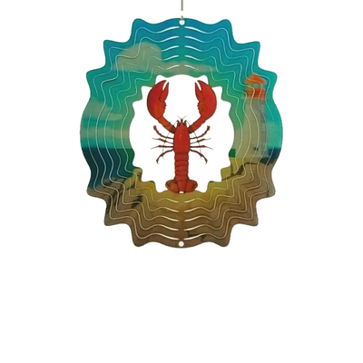 Stainless Steel Wind Spinner - Lobster