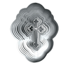 Stainless Steel Wind Spinner - Silver Cross