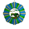 Stainless Steel Wind Spinner - Tractor