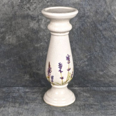 Ceramic Lavender Candle Holder
