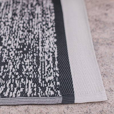 Black Rectangle Striped Recycled Mat