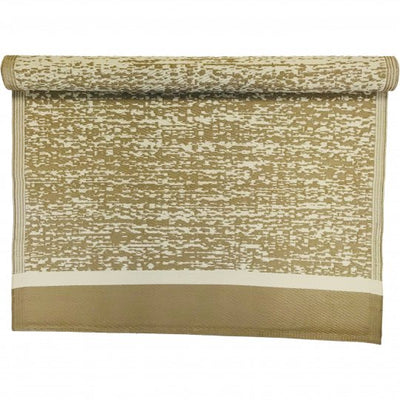 Beige Rectangle Recycled Mat