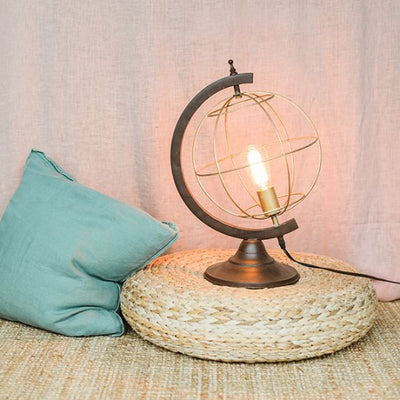 Metal Globe Desk Lamp