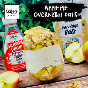 Apple Pie Overnight Oats | theskinnyfoodco