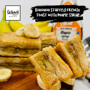 Banana Stuffed French Toast with Maple Syrup | theskinnyfoodco