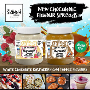 Brand New White Chocolate Raspberry and Toffee Chocoholic Spread! | theskinnyfoodco