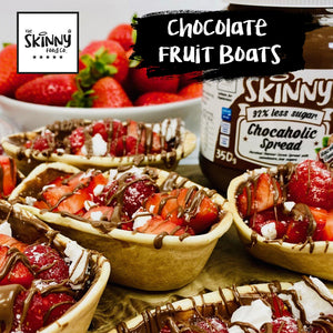 Chocolate Fruit Boats | theskinnyfoodco