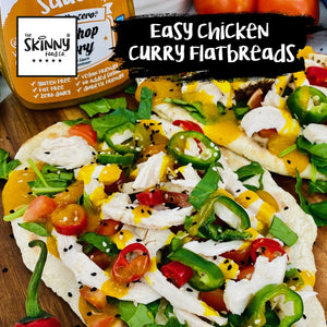 Easy Chicken Curry Flatbreads | theskinnyfoodco