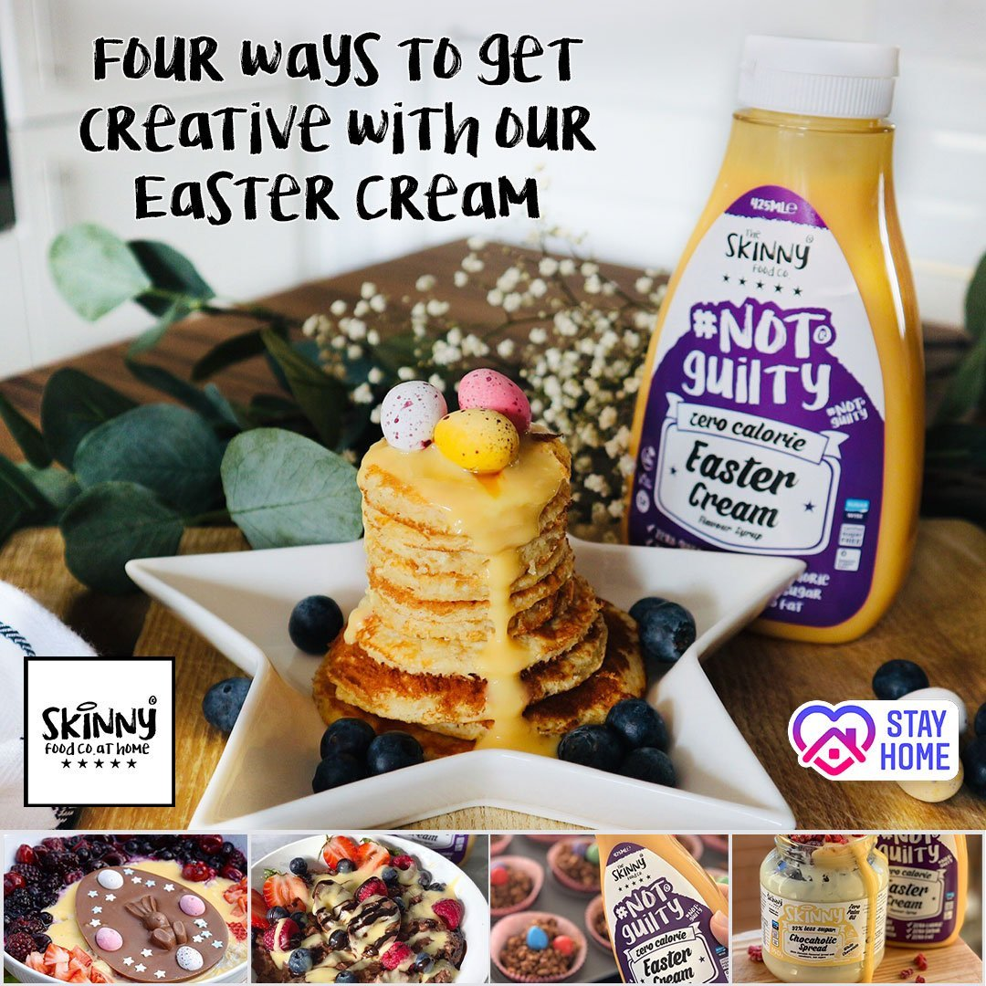 Four Ways To Get Creative At Home With Our Easter Cream | theskinnyfoodco