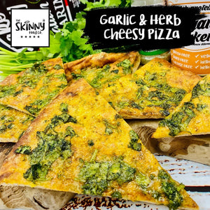 Garlic & Herb Cheesy Pizza | theskinnyfoodco