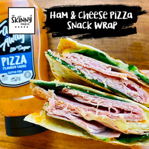 Ham and Cheese Pizza Snack Wrap | theskinnyfoodco