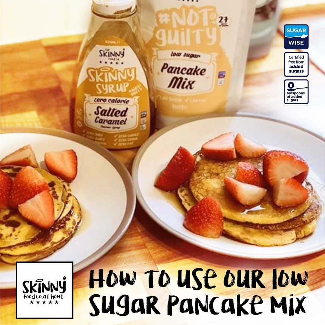 How To Use Our Low Sugar Pancake Mix | theskinnyfoodco