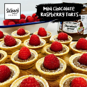 Mini Chocolate Raspberry Tarts | theskinnyfoodco