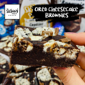 Oreo Cheesecake Brownies | theskinnyfoodco