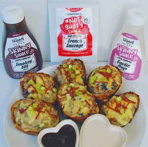 RECIPE - LOADED POTATO SKINS | theskinnyfoodco