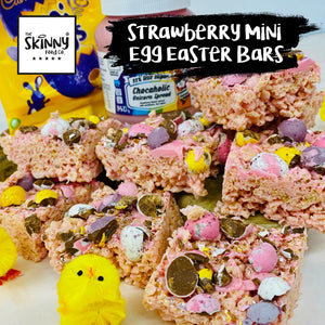 Strawberry Mini Egg Easter Bars | theskinnyfoodco