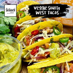 Veggie South West Tacos theskinnyfoodco