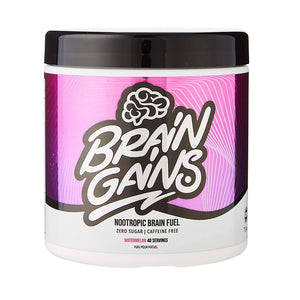 Brain Gains Nootropic Brain Fuel 260g - 40 Servings (5 Flavours) - theskinnyfoodco