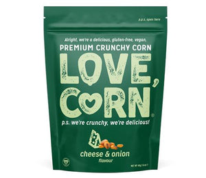 LoveCorn Vegan Roasted Corn Snacks (5 Flavours) - theskinnyfoodco